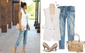 Outfits con vest blazer