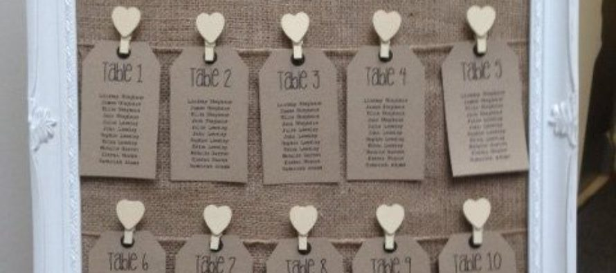Seating chart wedding ideas