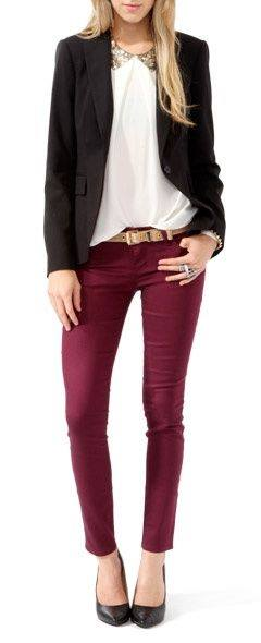 Outfits en color vino (7) | Beauty and fashion ideas Fashion Trends Latest Fashion Ideas and ...