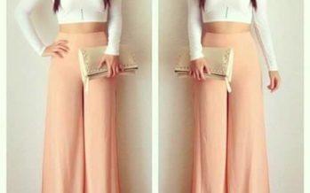 Outfits con pantalones Palazzo