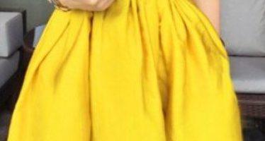 Vestidos de coctel amarillos