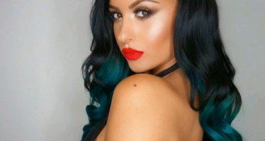 Shades of bluish black hair