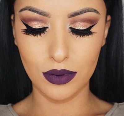 Maquillaje Para Labios En Tonos Morados 20 Beauty And Fashion