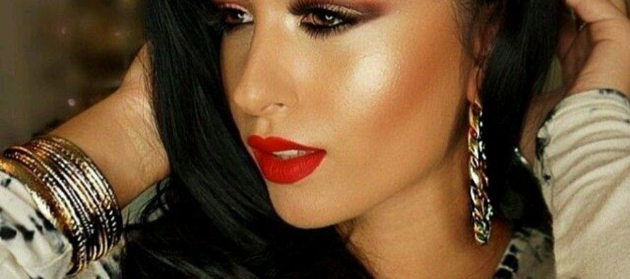 Maquillaje para mujeres con cabello negro
