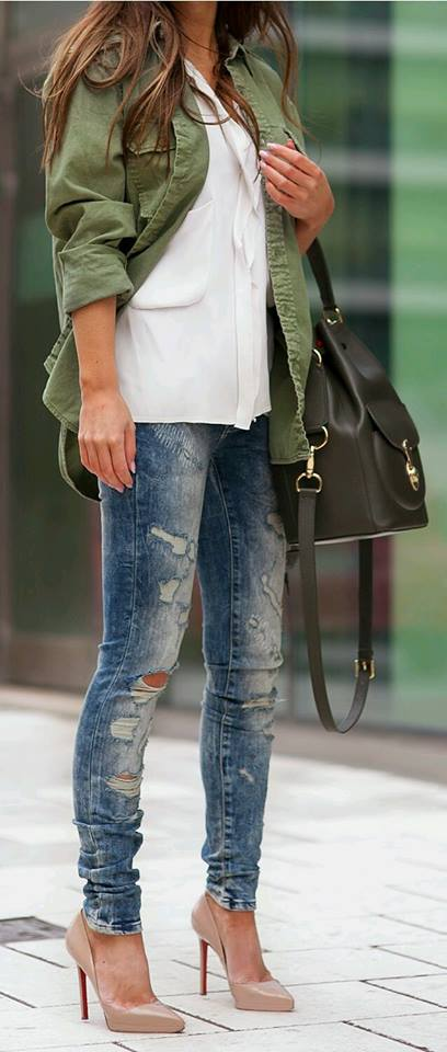 Outfits en tono verde militar (16) | Beauty and fashion ideas Fashion Trends Latest Fashion ...