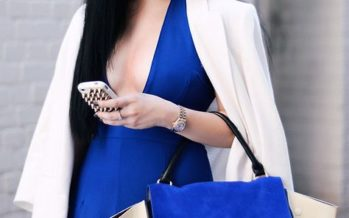 Add a touch of blue to your outfits