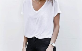 Basic outfits with white blouses
