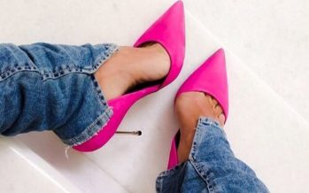 Complement your looks with pink shoes