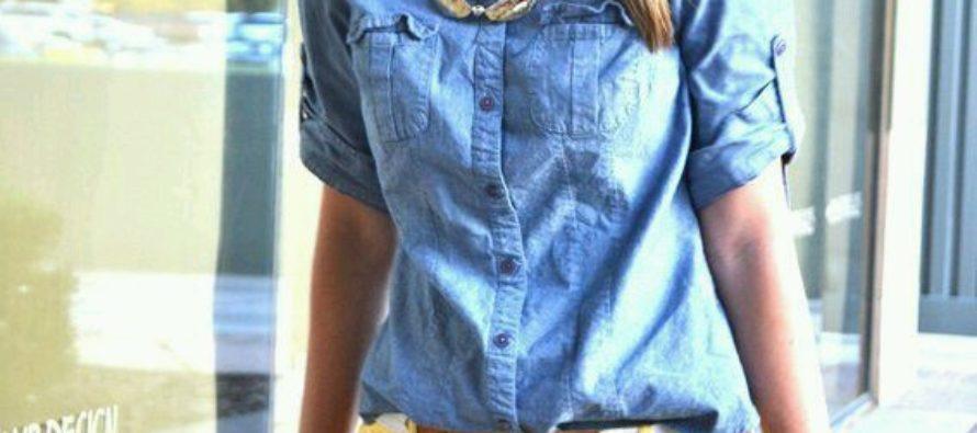 Denim shirts , with everything !!