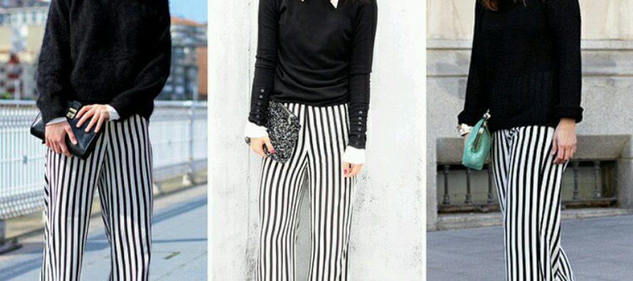 Garments with vertical stripes to look thinner