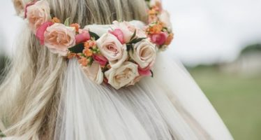 Headdresses of flowers for brides