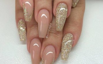 Nail art nude color