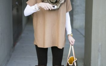 Outfits for winter with ponchos