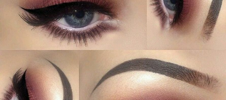Smokey eye makeup in different shades