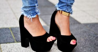 The best designs in platform heels 2017-2018