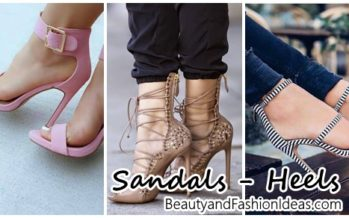 Beautiful sandals with heels