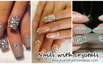 Fashion nails with crystals
