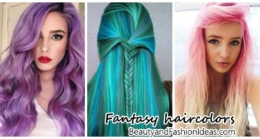 Looks hair in fantasy colors