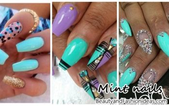 Mint colored nail designs