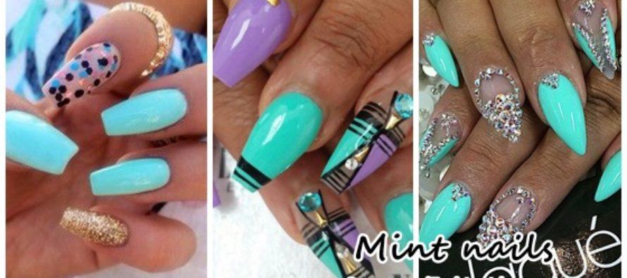 Diseños de uñas de color menta - Beauty and fashion ideas Fashion ...