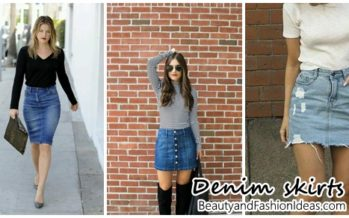 Outfits with denim skirts very fashionable