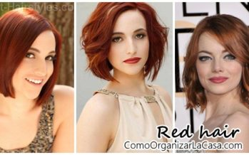 Short hair with different shades of red