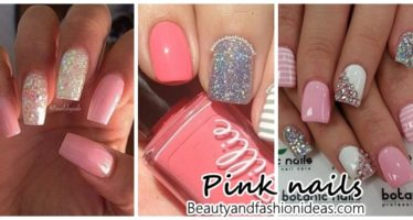 Pink nail decoration