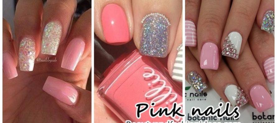 Pink nail decoration