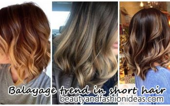 Balayage trend in short hair