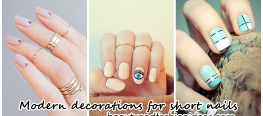 Modern decorations for short nails