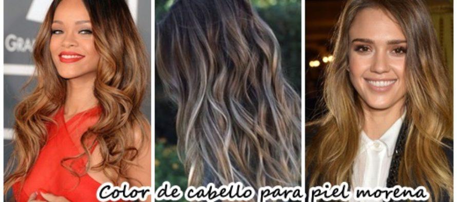 Color de cabello para piel morena