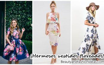 Vestidos floreados para un estilo femenino y fresco