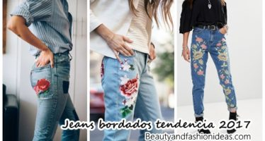 Jeans bordados ¡Tendencia 2017!