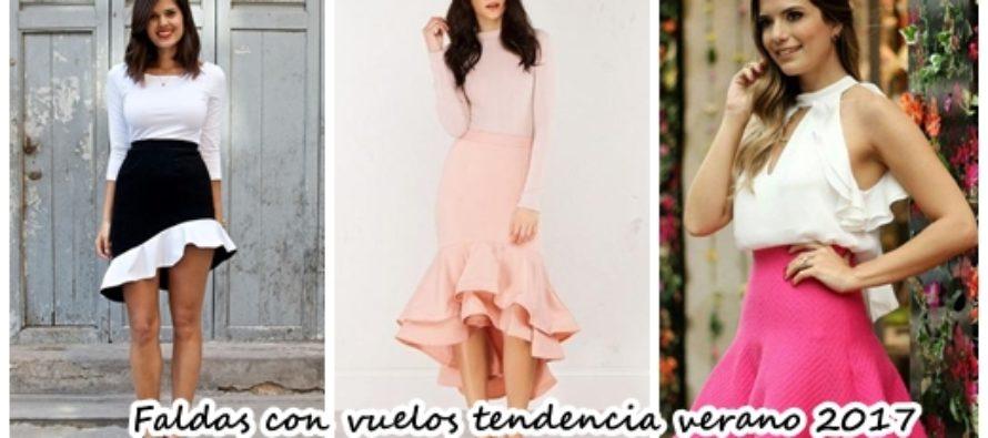 Faldas con olanes la nueva tendencia