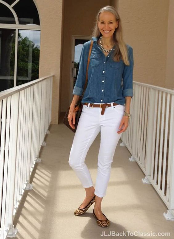 outfits-con-pantalon-blanco-para-verano (10) | Beauty and ...