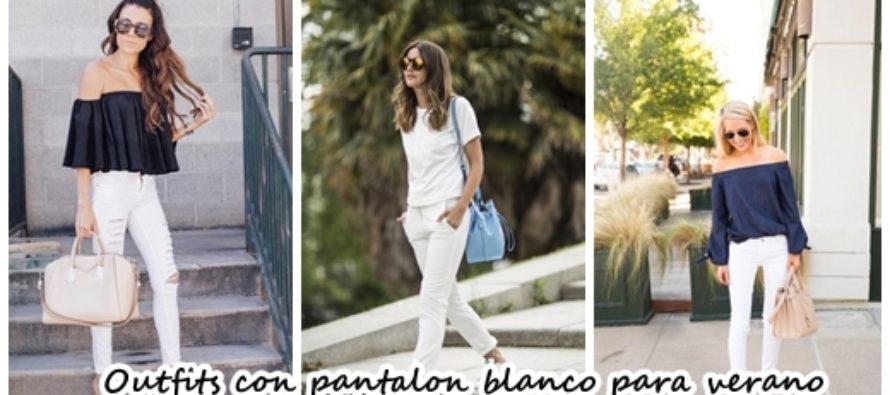 Outfits con pantalon blanco para verano