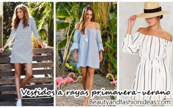 Vestidos a rayas ideales para primavera-verano