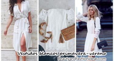 Vestidos blancos ideales para primavera-verano