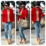 25 Outfits con blazers rojos