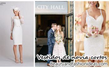 33 Vestidos de novia cortos ideales para civil
