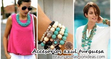 Accesorios en color turquesa
