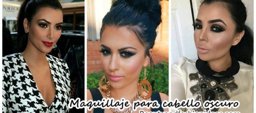 Maquillaje para chicas con cabello oscuro