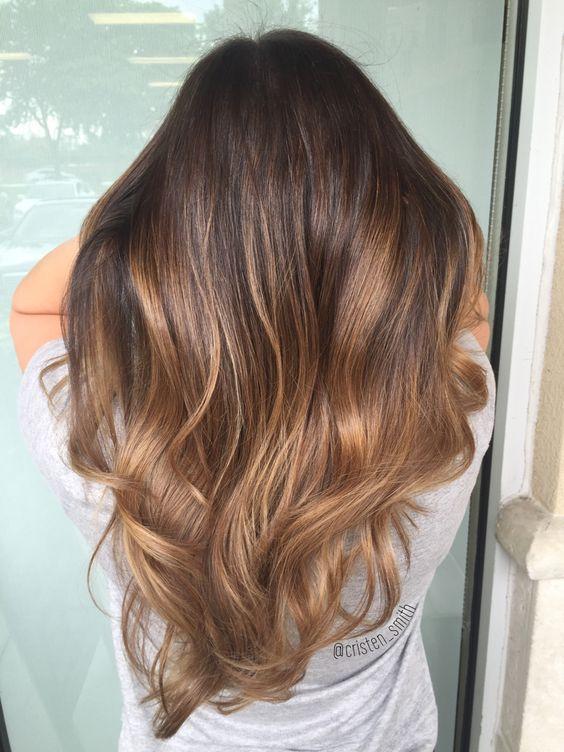 Mechas ombre para cabellos castaños