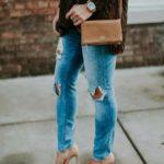 Outfits con jeans desgastados
