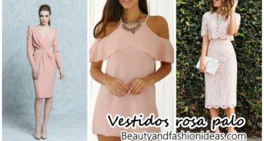 Vestidos en color rosa palo