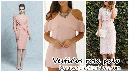 Español Vestidos En Color Rosa Palo Beauty And Fashion