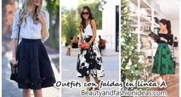30 Outfits con faldas linea A