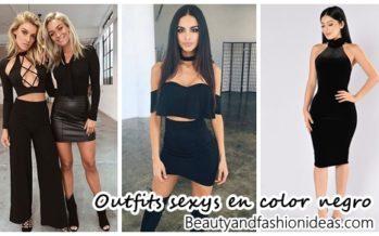 30 Outfits sexys en color negro