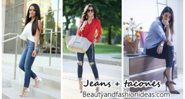 Looks de jeans con tacones ¡la combinación perfecta!