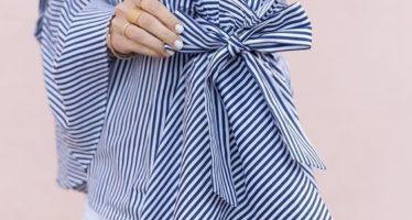 Maneras de combinar blusas con mangas acampanadas
